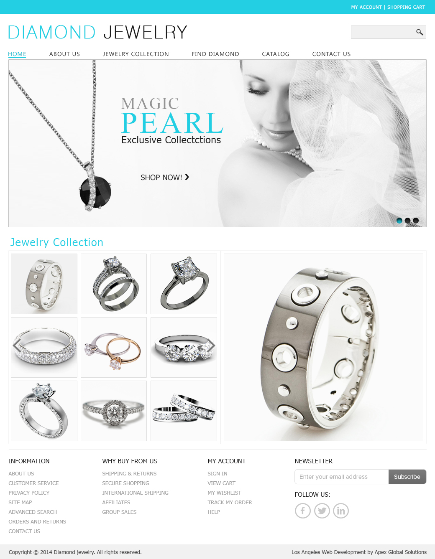 Choose Jewelry Website Design Custom Jewelry Website Design Los